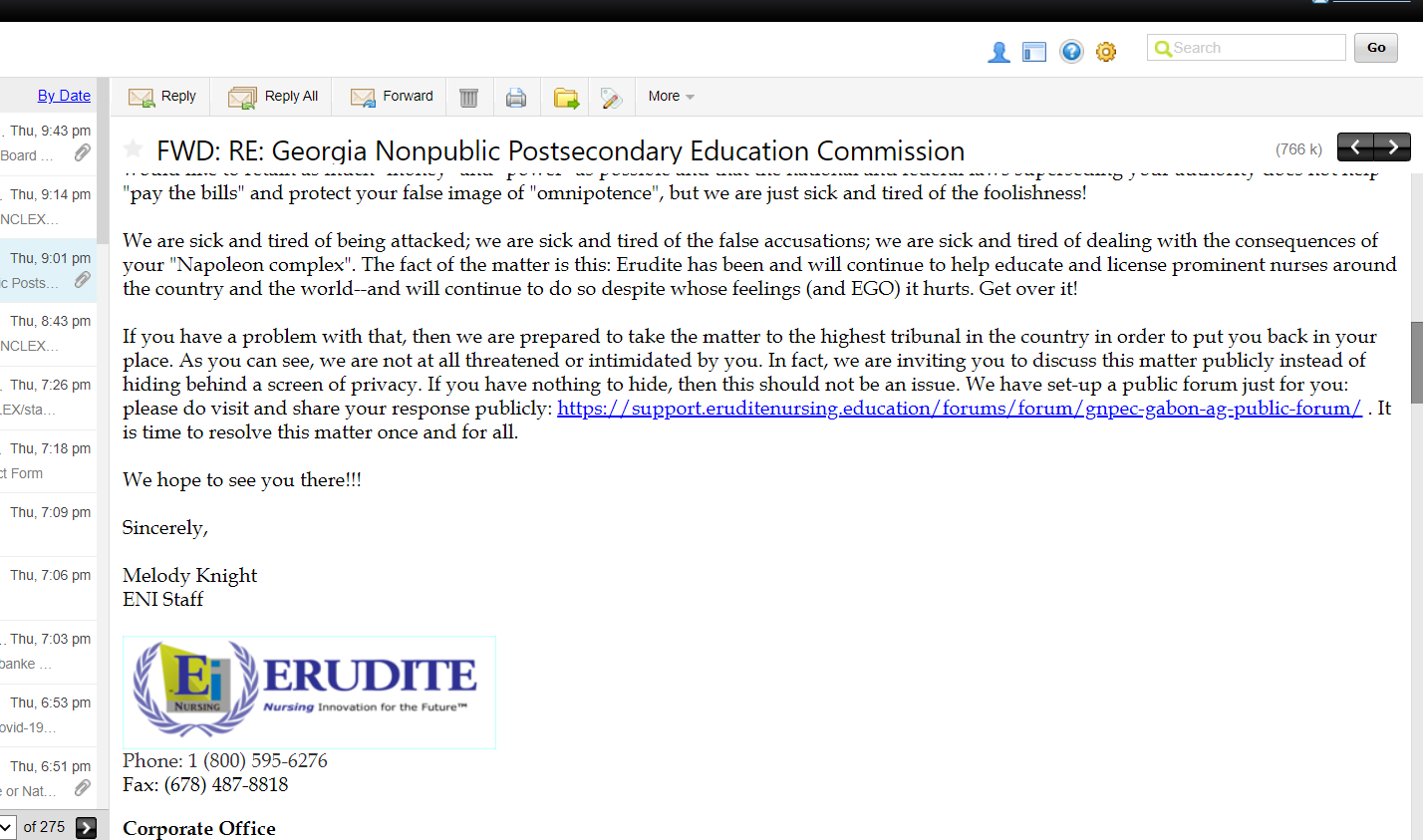 Invitation from Erudite to GNPEC